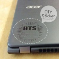How to make homemade stickers DIY step by step tutorial instruction