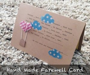 DIY farewell card