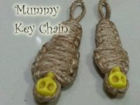 knot craft mummy key chain