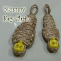 How to make knot craft mummy key chain DIY step by step tutorial instruction