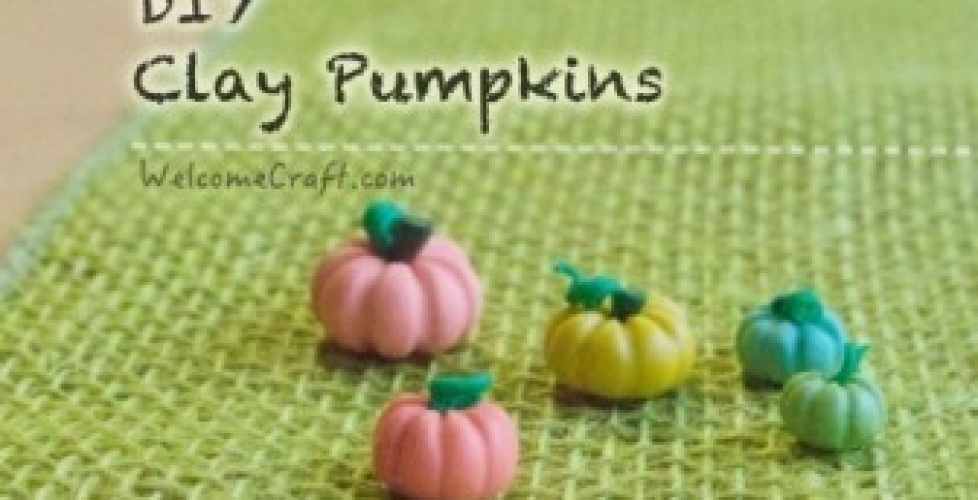 How to make clay pumpkins DIY step by step tutorial instruction