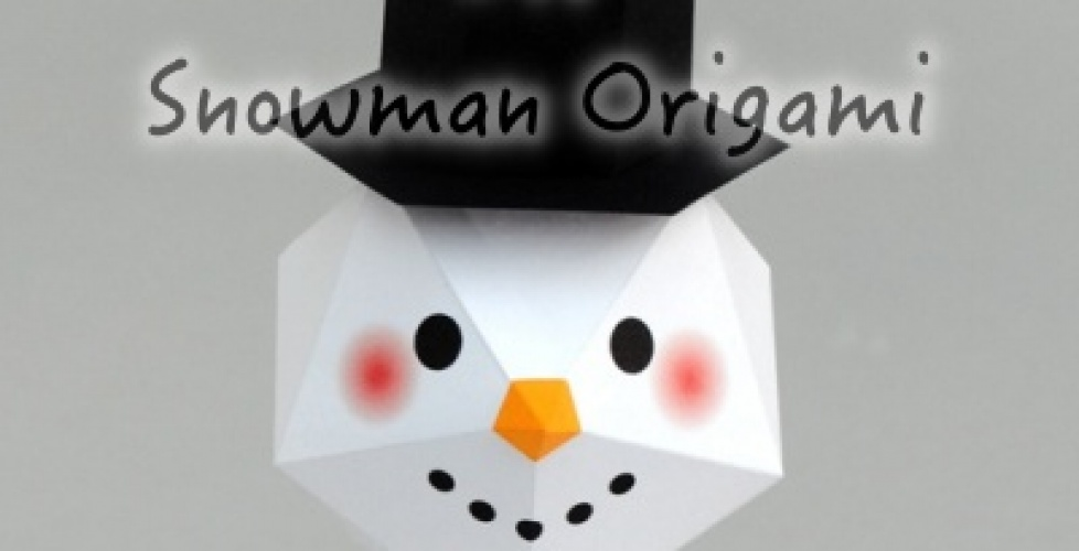 How to make snowman origami DIY step by step tutorial instruction