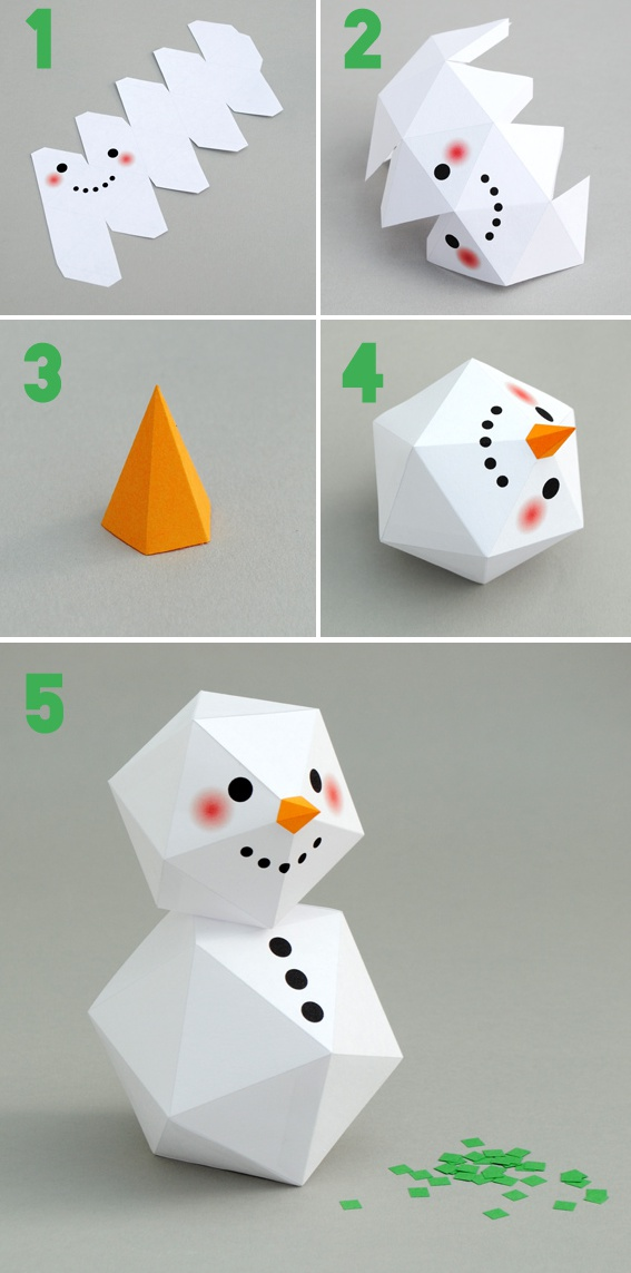 How to make snowman origami diy step by step tutorial for I want to make a snowman