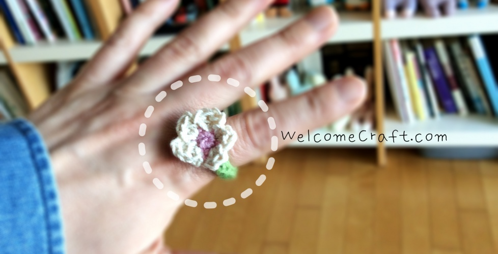 Hand Made Crochet Flower Ring