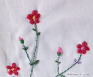 cherry blossom embroidery