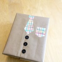 Father's Day Gift Wrapping step by step tutorial instruction