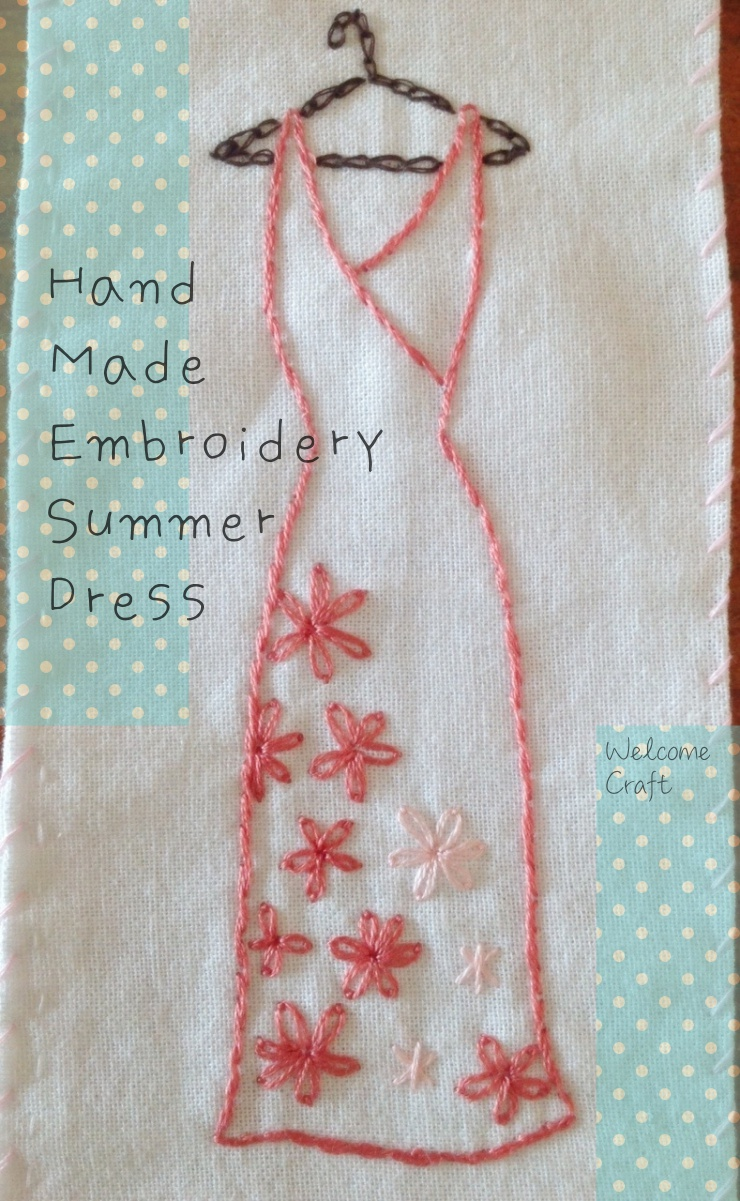 Hand made embroidery summer dress