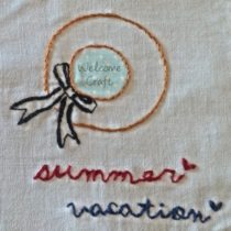 Hand Made Embroidery Summer Vacation Hat
