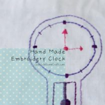 Hand Made Clock Pattern Embroidery Coaster