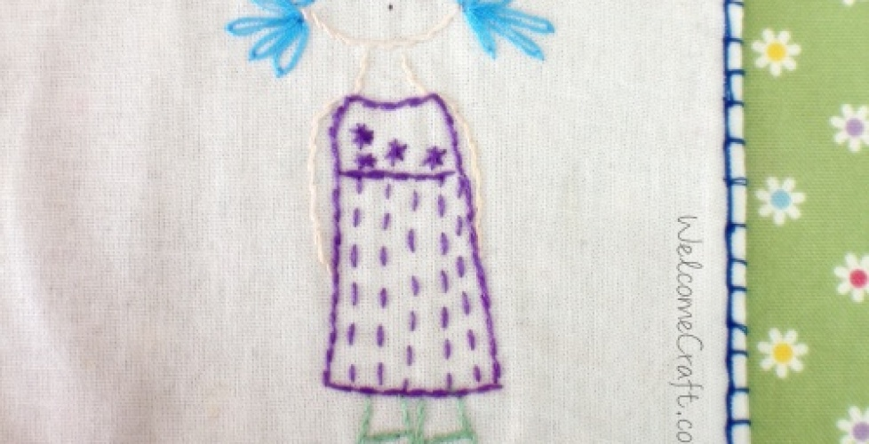 Hand Made Embroidery Girl