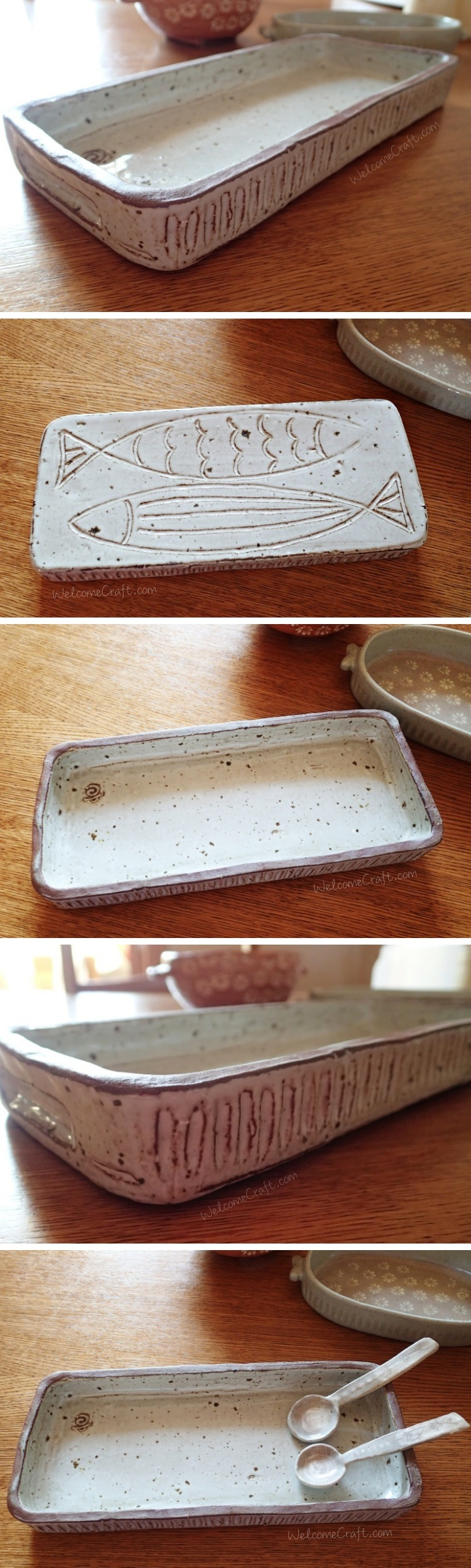 Long Rectangular Ceramic Plate