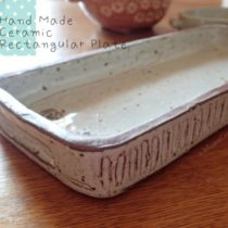 Hand Made Ceramic Rectangular Plate