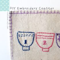 DIY Embroidery Tea Coaster