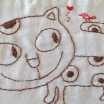 Hand Made Embroidery Cat