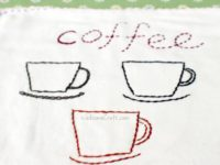 Embroidery Coffee Cup Coaster