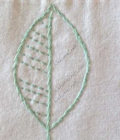 Hand Made Embroidery Leaves