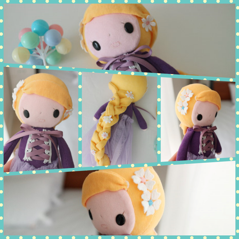 Rapunzel Sock Doll