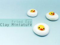 Hand Made Clay Miniature Fried Egg
