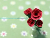 Clay Miniature Rose Step by Step Tutorial Instruction