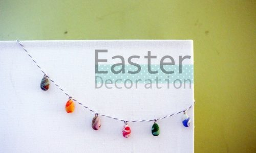 Clay Easter Egg Decoration