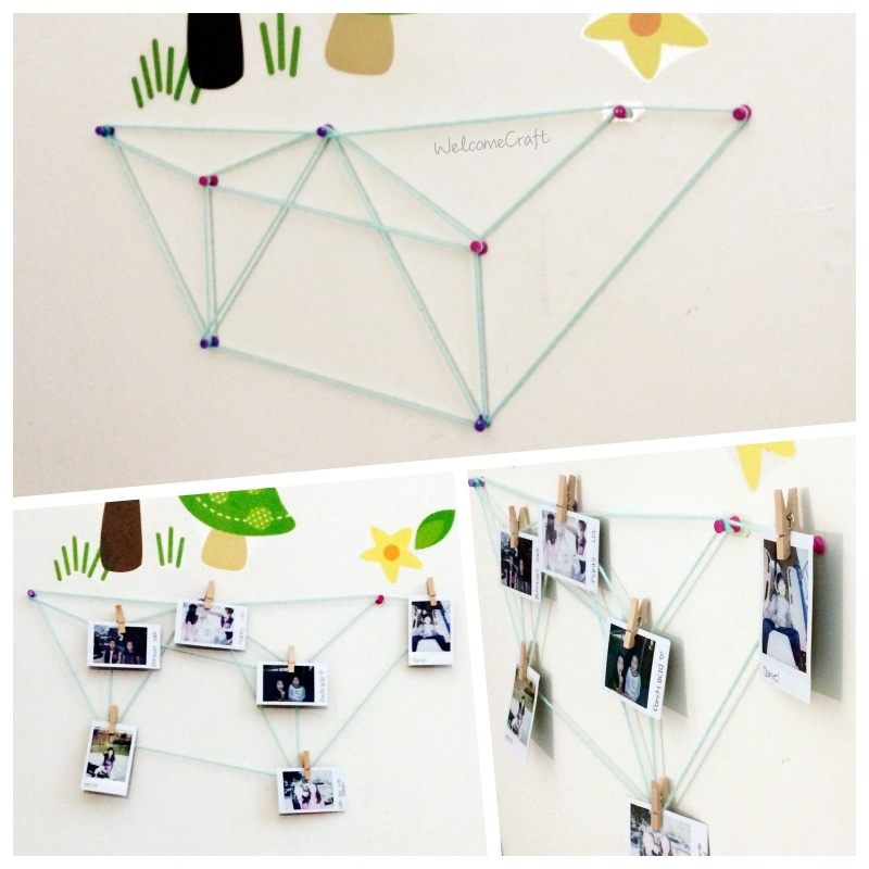 DIY Geometric Picture Display Step By Step Tutorial Instruction