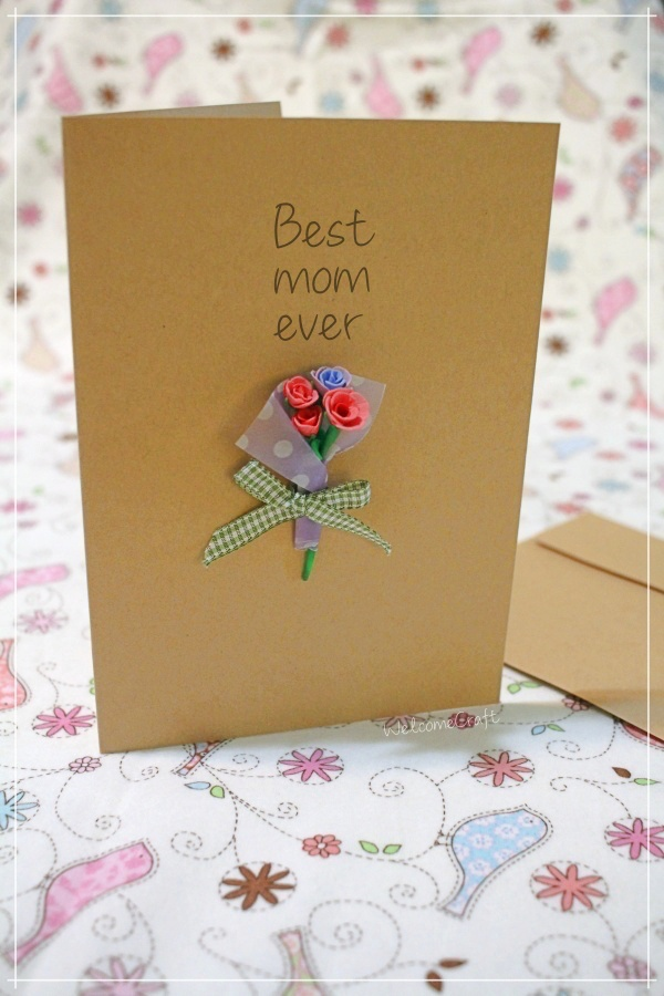 Hand Made Best Mom Ever Card