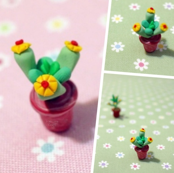 DIY Clay Cactus Step by Step Tutorial Instruction