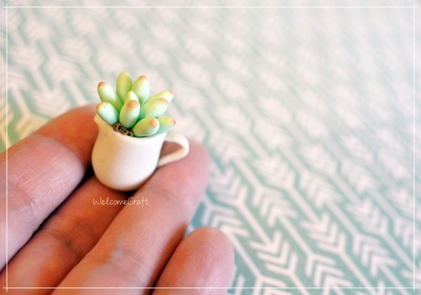 Polymer Clay Miniature Succulent Plant Step By Step Instruction