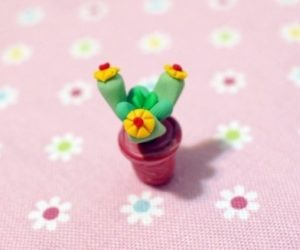 Polymer Clay Cactus
