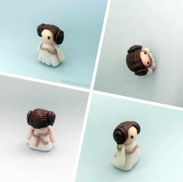 DIY Clay Princess Leia
