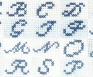 Cross Stitch Cursive and Pattern