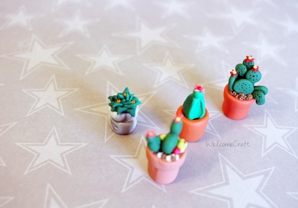 Polymer Clay Miniature Cactus Step By Step Tutorial Instruction