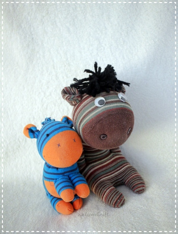 DIY Sock Doll Little Donkey