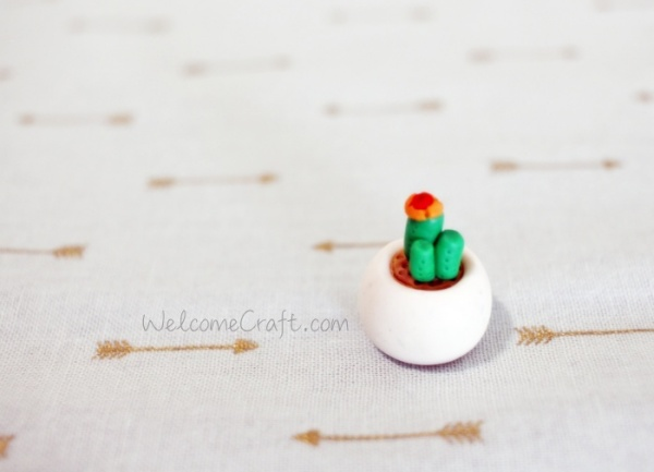 Handmade Clay Cactus Step By Step Tutorial Instruction