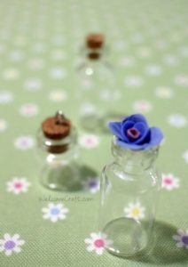 Polymer Clay Blue Rose