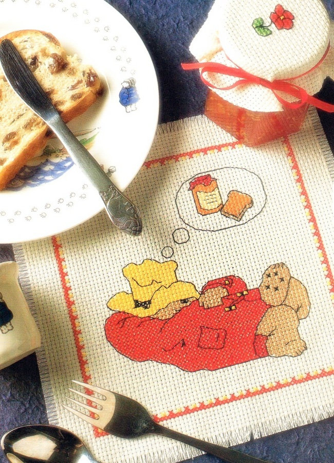 Cross Stitch Paddington Placemat