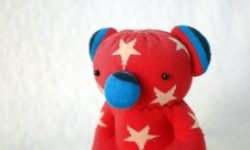 Handmade Sock Doll Red Koala