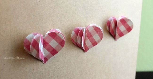 Handmade Paper Heart Birthday Card