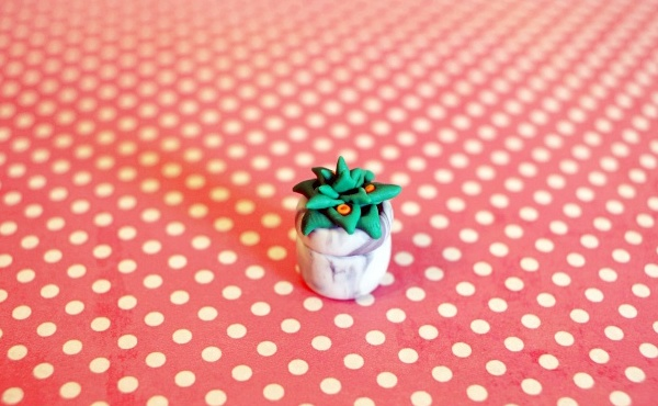 How To Make Miniature Clay Succulent
