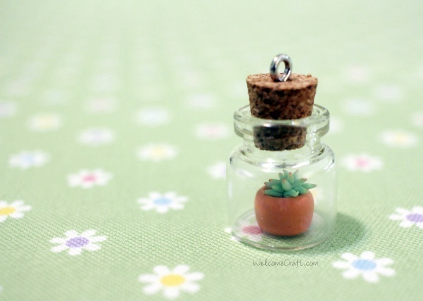 Handmade Tiny Clay Succulents