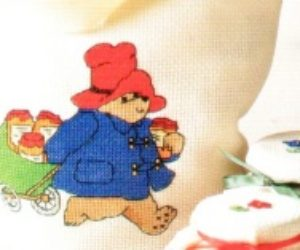 Cross Stitch Paddington Bear Shopping Bag