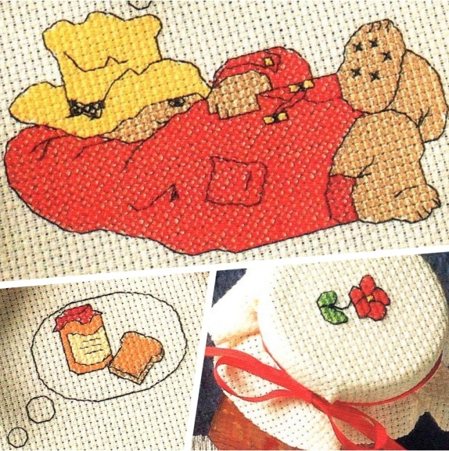 Handmade Cross Stitch Paddington Placemat