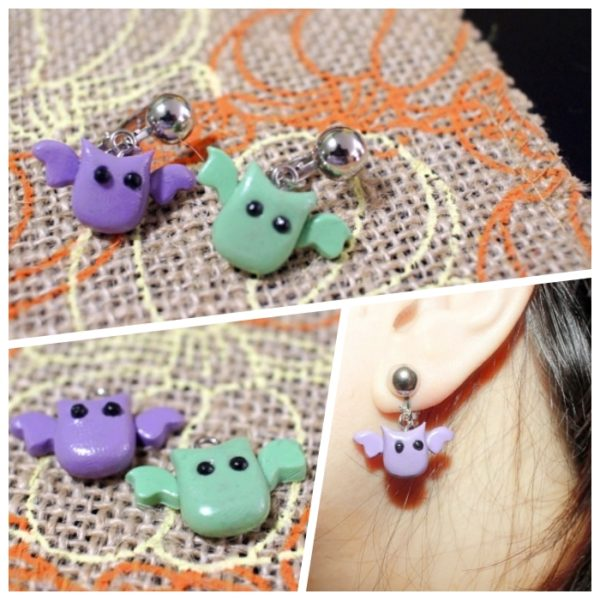 Halloween Accessory Bat Earring