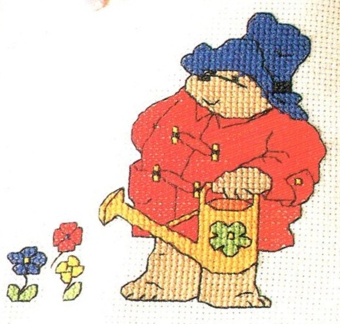 Cross Stitch Paddington Apron and Pattern