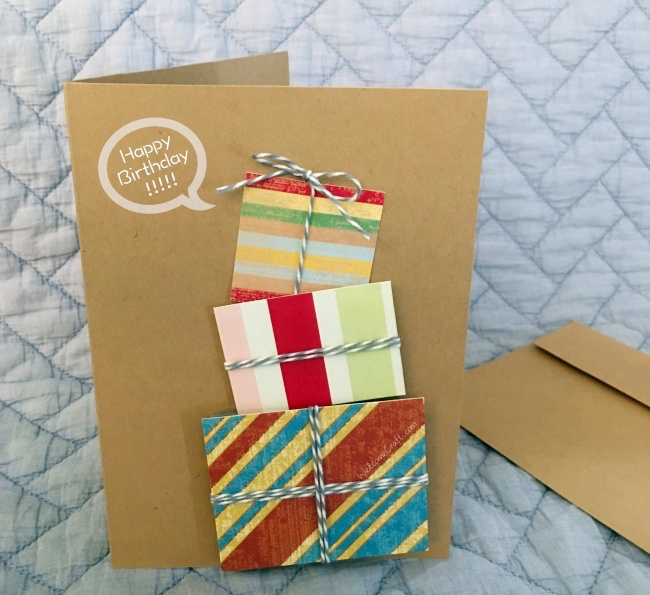 Birthday Card Step By Step Tutorial Instruction
